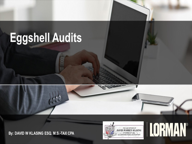Eggshell Audits: Protecting Your Client in a Criminal Examination