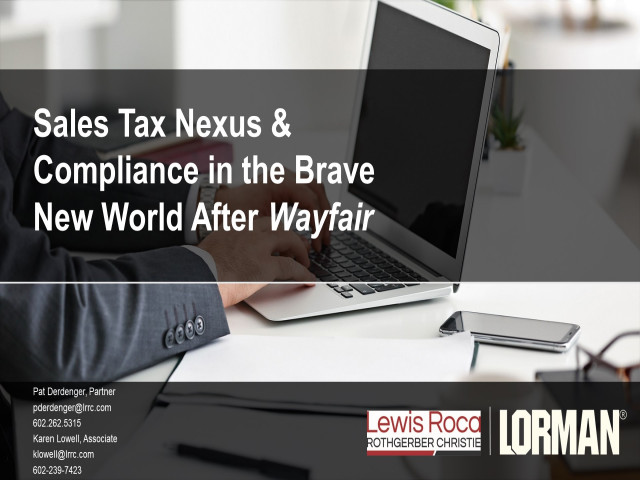 Sales Taxation of Internet Transactions: What Now After Wayfair?
