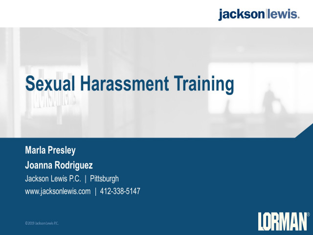 Sexual Harassment Training Guide