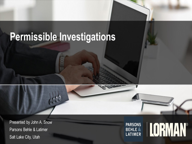 Ethical and Admissible Witness Investigations