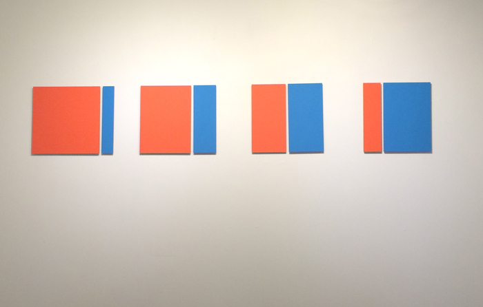 "Tom  Kotik, 12""  (Orange/Blue), 2015"