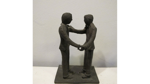 "Carol Saft, ""Dancing Men"", 2010, Bronze, 6.5 x 4 x 3 inches"