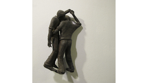 "Carol Saft, ""Up and Over"", 2008, Bronze, 7 x 3.5 x 2.5 inches"