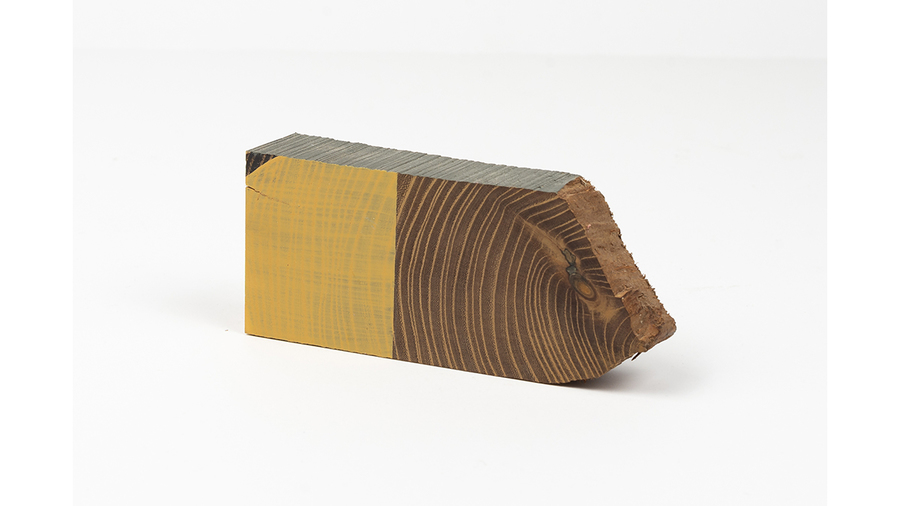 "Jim Osman, ""Start-11"", 2018, wood, paint, 2 x 5 x 1 inches"