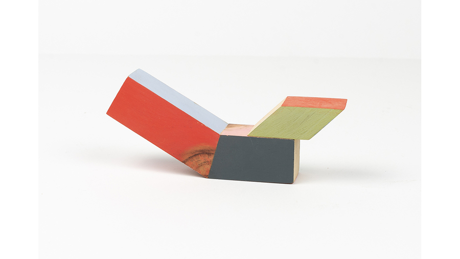 "Jim Osman, ""Start-18"", 2018, wood, paint, 2 3/8 x 5 3/4 x 1 1/8 inches"