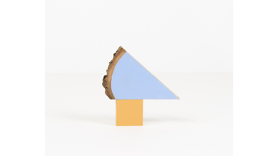 "Jim Osman, ""Start-29"", 2018, wood, paint, 4 1/2 x 4 1/2 x 3/4 inches"