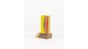 "Jim Osman, ""Start-35"", 2018, wood, paint, 5 3/8 x 3 3/8 x 2 1/2 inches. Image #1349"