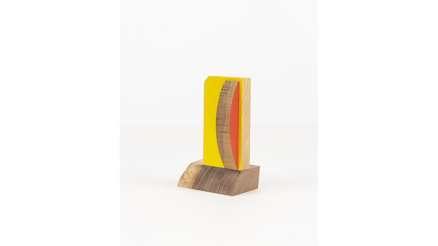 "Jim Osman, ""Start-35"", 2018, wood, paint, 5 3/8 x 3 3/8 x 2 1/2 inches"