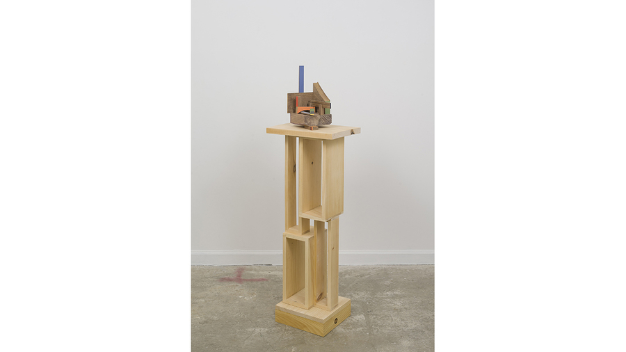 "Jim Osman, ""Here and There Corner"", 2018, wood, paint, 50 3/4 x 15 1/4 x 11 1/8 inches"