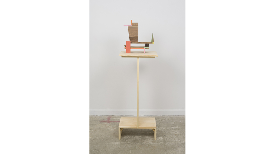 "Jim Osman, ""West"", 2018, wood, paint, 14 x 13 x 9 inches"