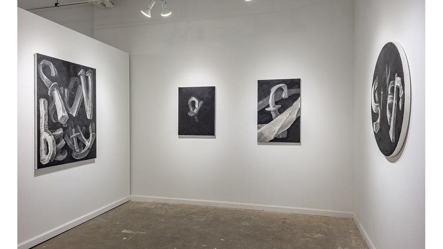 JF Lynch: Word Drawings (installation view, Lesley Heller Gallery, New York)