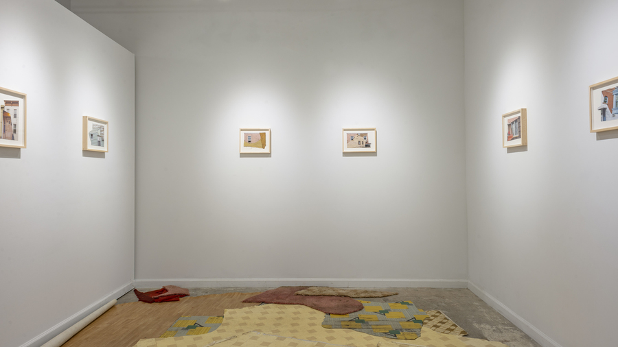 Amanda C. Mathis: Collage Dwellings (installation view)