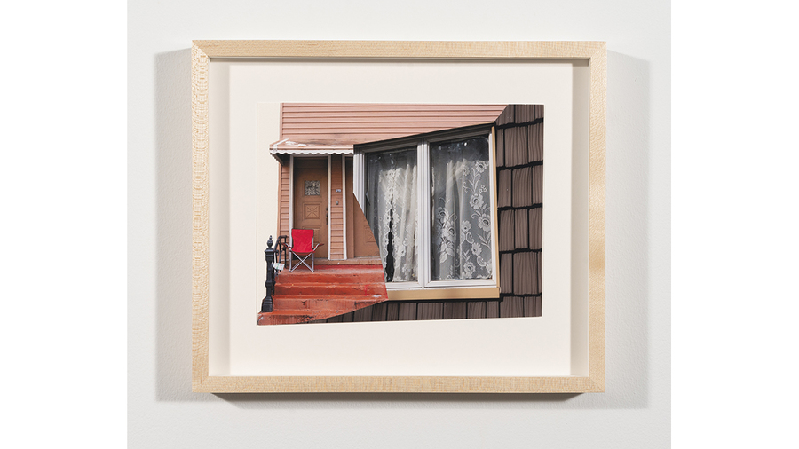 "Amanda C. Mathis, ""07.17"", 2017, Photographs collaged on paper, 10 3/4 x 12 3/4 in. Framed"
