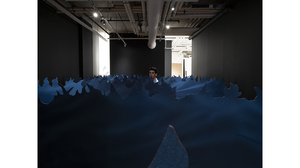 Tom Pnini: Two Figures in a Field (installation view - waves). Image #1649