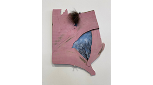 "Carol Hepper, ""Pink Window"", 2018, Archival digital print, wood, bison fur, 1.... Image #1664"