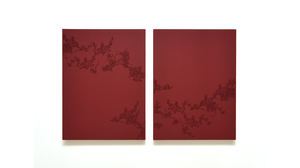"Taney Roniger, ""Inscape Series  (Diptych: Fenghuang #1, Alizarin Crimson)"",  .... Image #198"