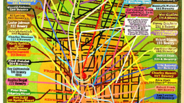 "Loren Munk, ""Location, Location, Location-Mapping the New York Art World"". Image #29"