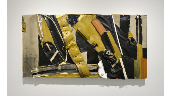 "Charles McGill, ""The Storm"", 2013, Reconfigured golf bag parts on wood panel,.... Image #390"