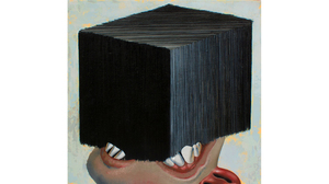 "Ivanco Talevski, ""Taking It, 2012, oil on linen, 13 x 5 inches. Image #418"