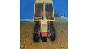 "Gennadi Barbush, ""Tractor"", 2008, Oil on canvas panel, 24 x 24 inches. Image #435"