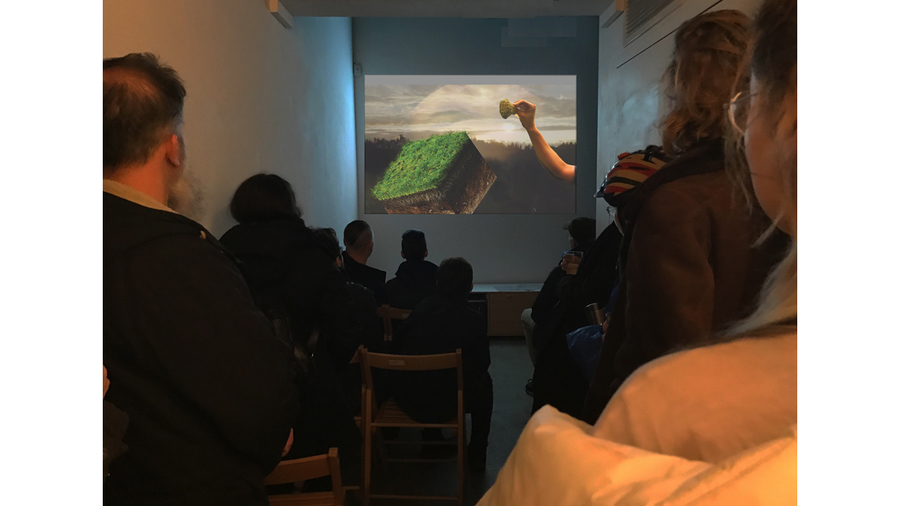 A Room Behind A Room, Recent Trends in Video Art (installation view)