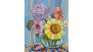 "Judith Linhares, ""Summer"", 2012, oil on linen, 22 x 26 inches. Image #642"