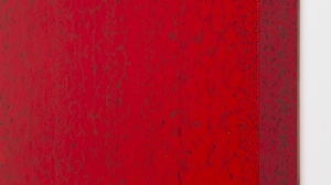 "Sara Sosnowy, ""Hanging Flowers (Red)"" (side view detail). Image #662"