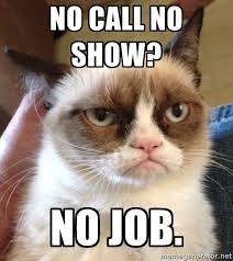 No call no show no job