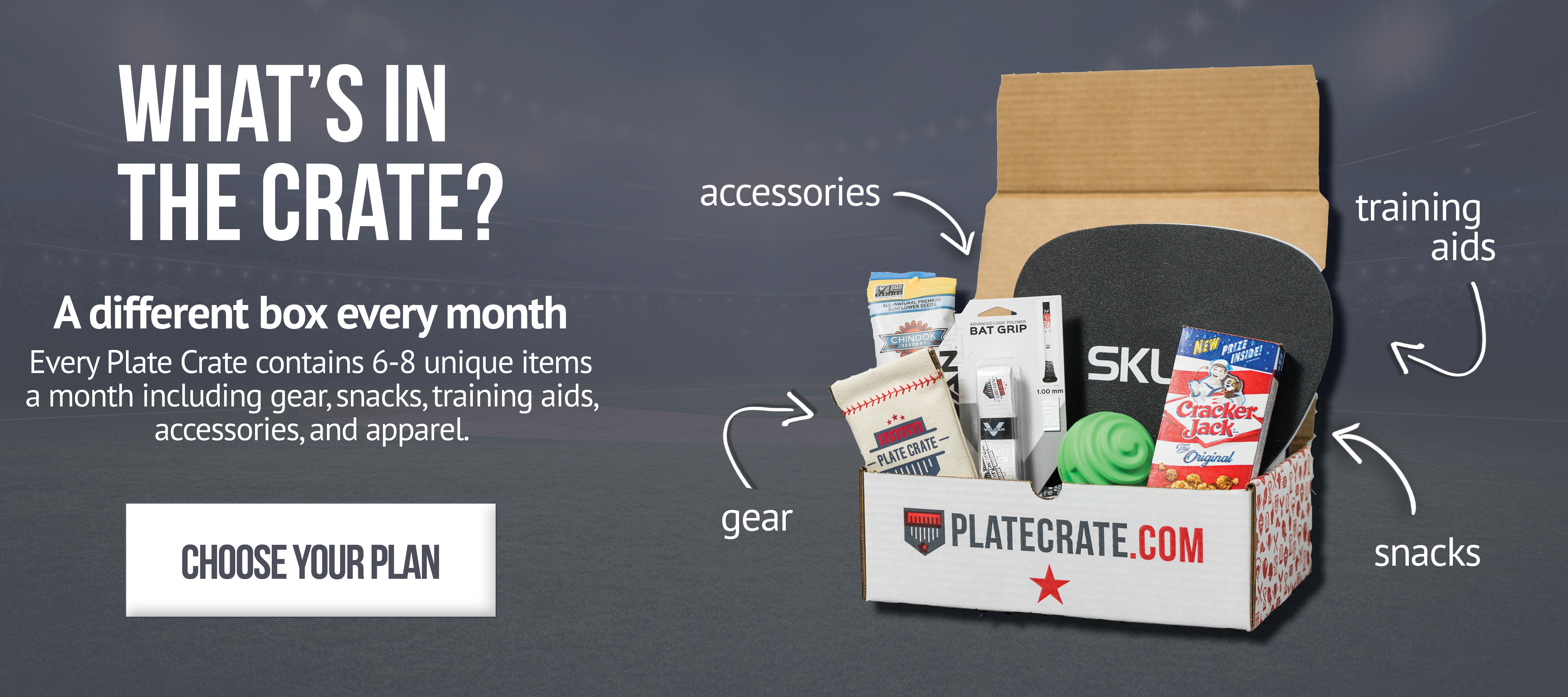 Plate Crate A Monthly Box Of Baseball Gear Baseball Subscription Box