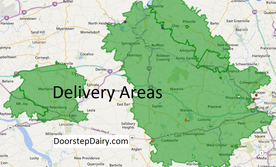 Doorstep Dairy Delivery Area