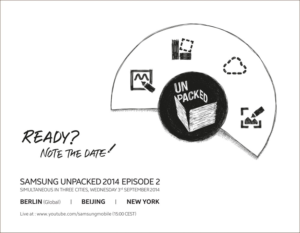 Galaxy Note 4 To Be Launched On September 3rd At Samsung's Unpacked Event
