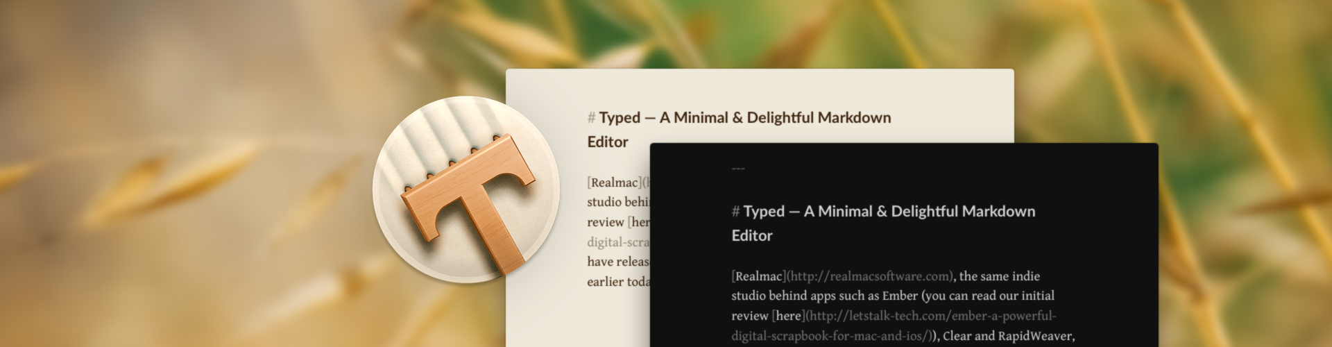 Typed: A Minimal & Delightful Markdown Editor for the Mac