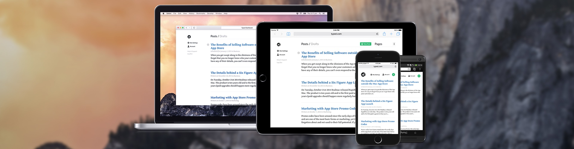 Typed.com — A New Blogging Platform from Realmac