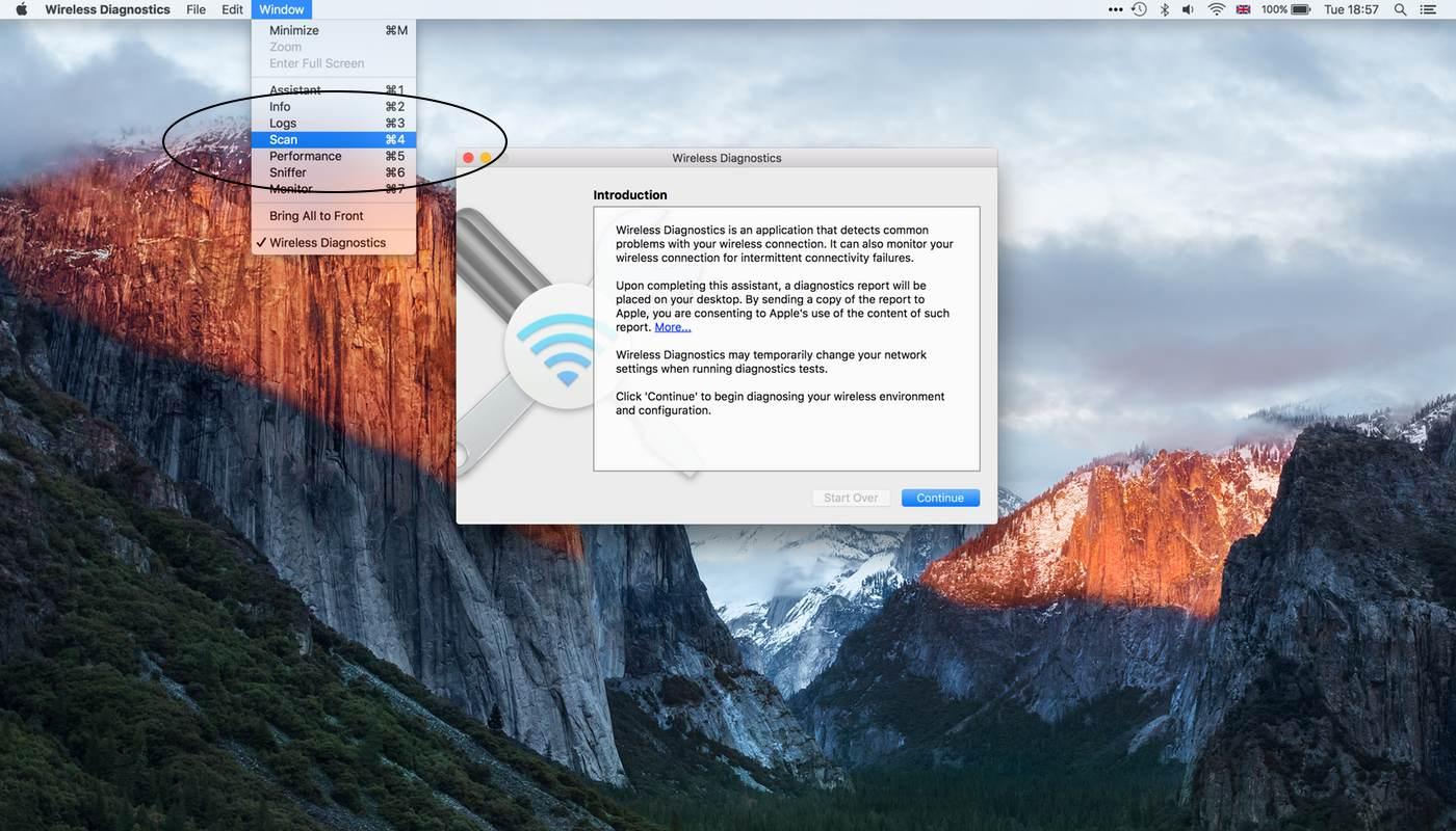 Wi-Fi Scanner OS X El Capitan Scan