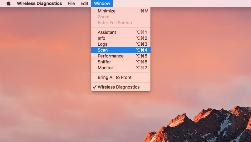 How To Access The WiFi Scanner In macOS Sierra - Let's Talk Tech