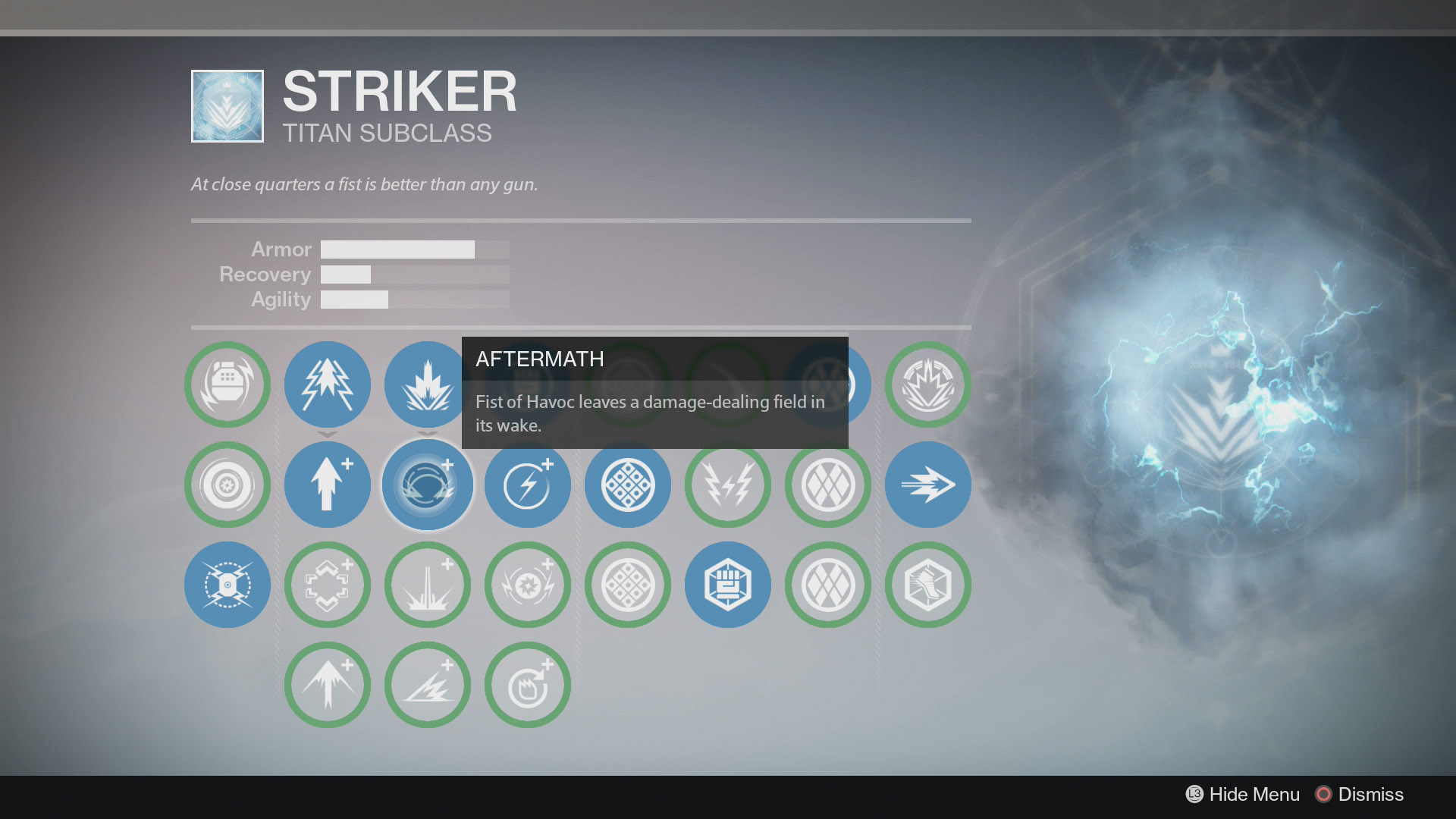 Destiny Striker Fist of Havoc