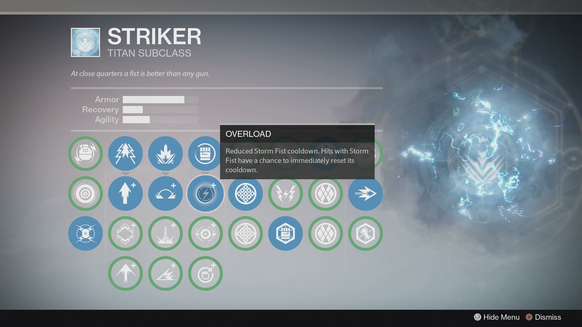 Destiny Striker Storm Fist