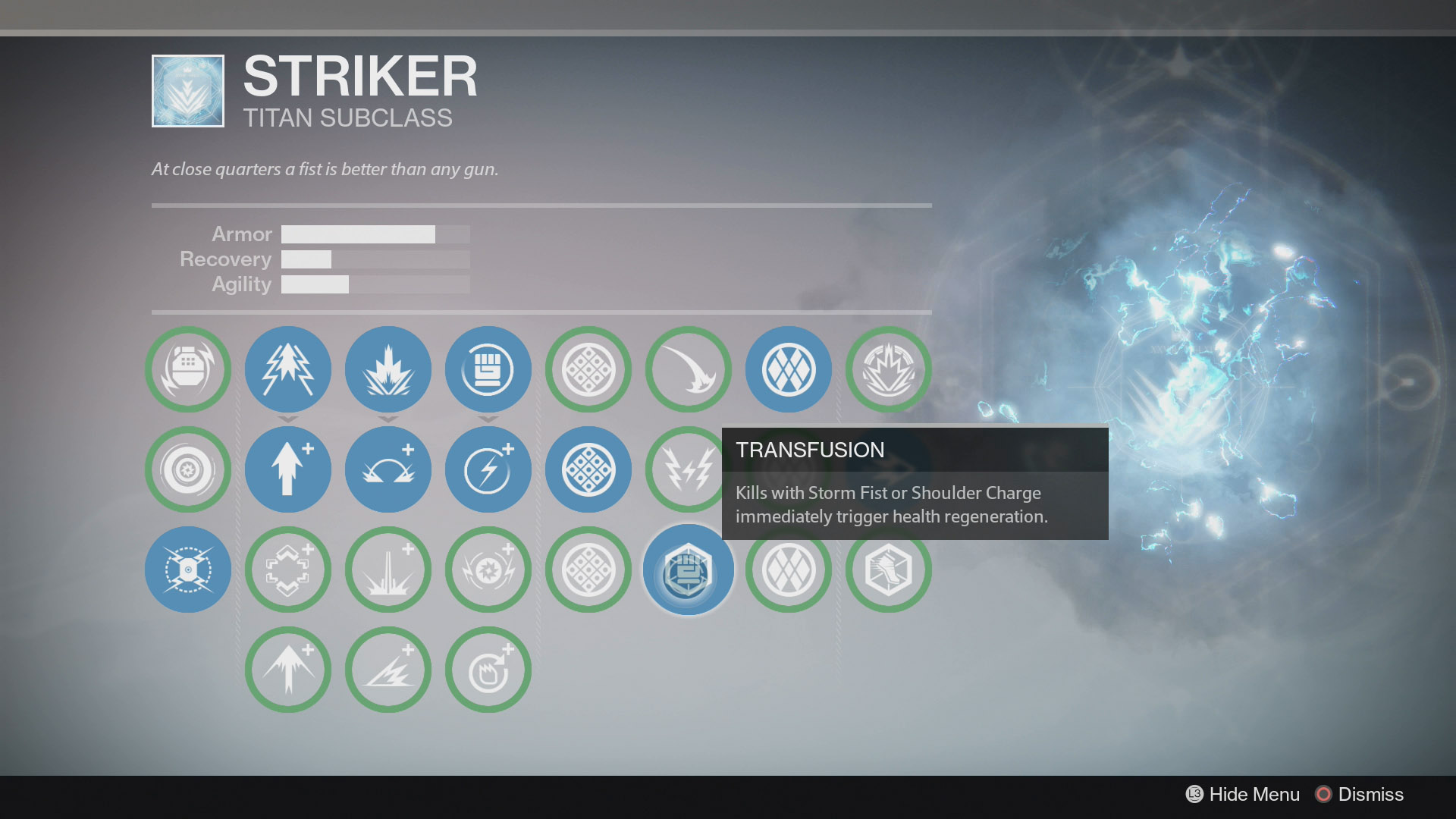 Destiny Striker Transfusion
