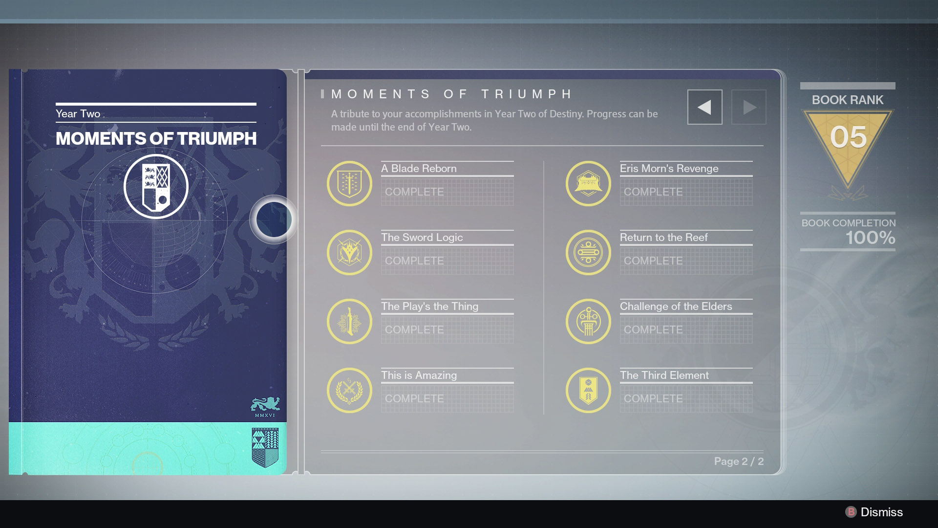 Destiny Moments of Triumph Year 2
