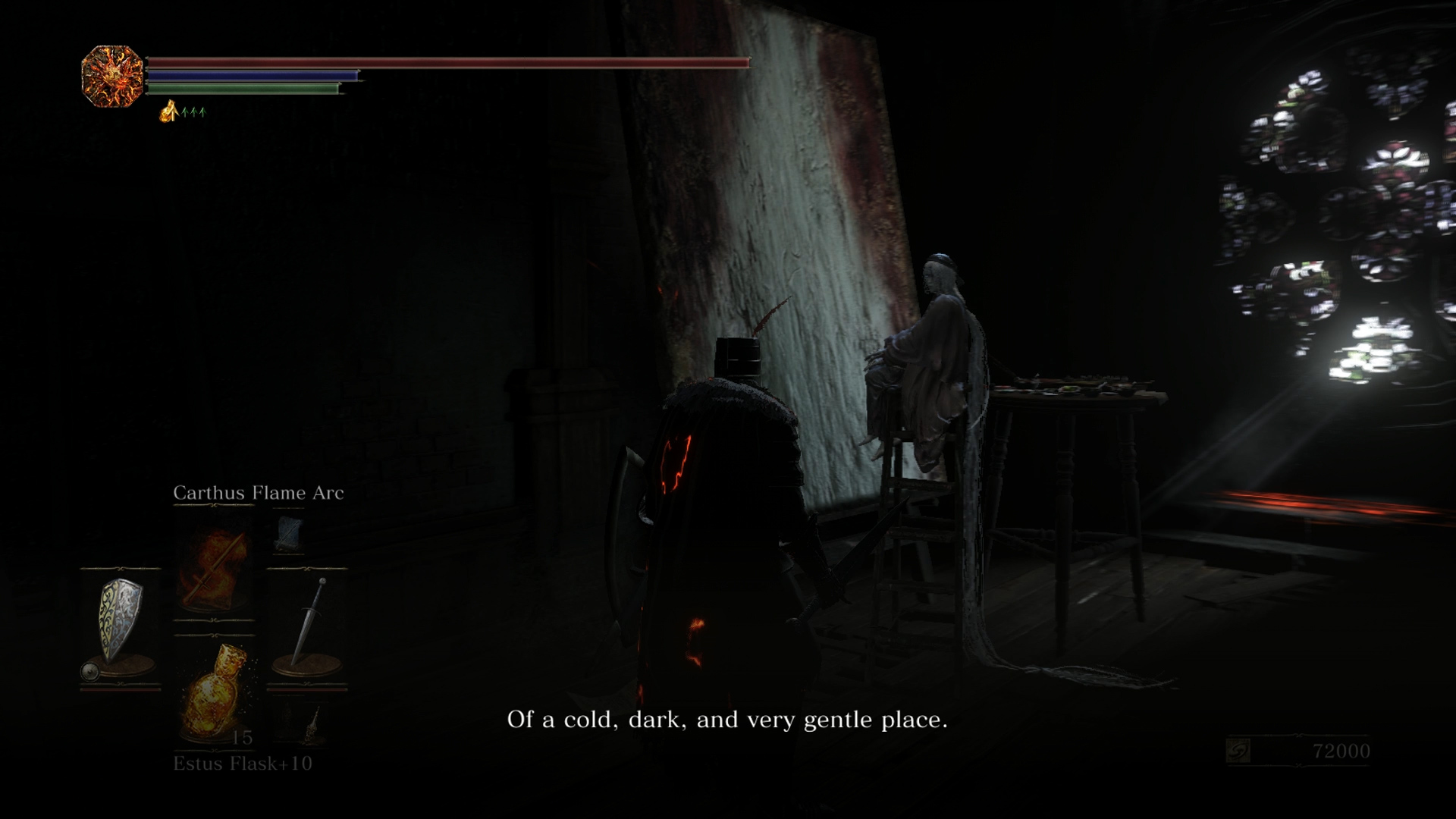 This is one of the few NPCs who has purpose in Ashes of Ariandel