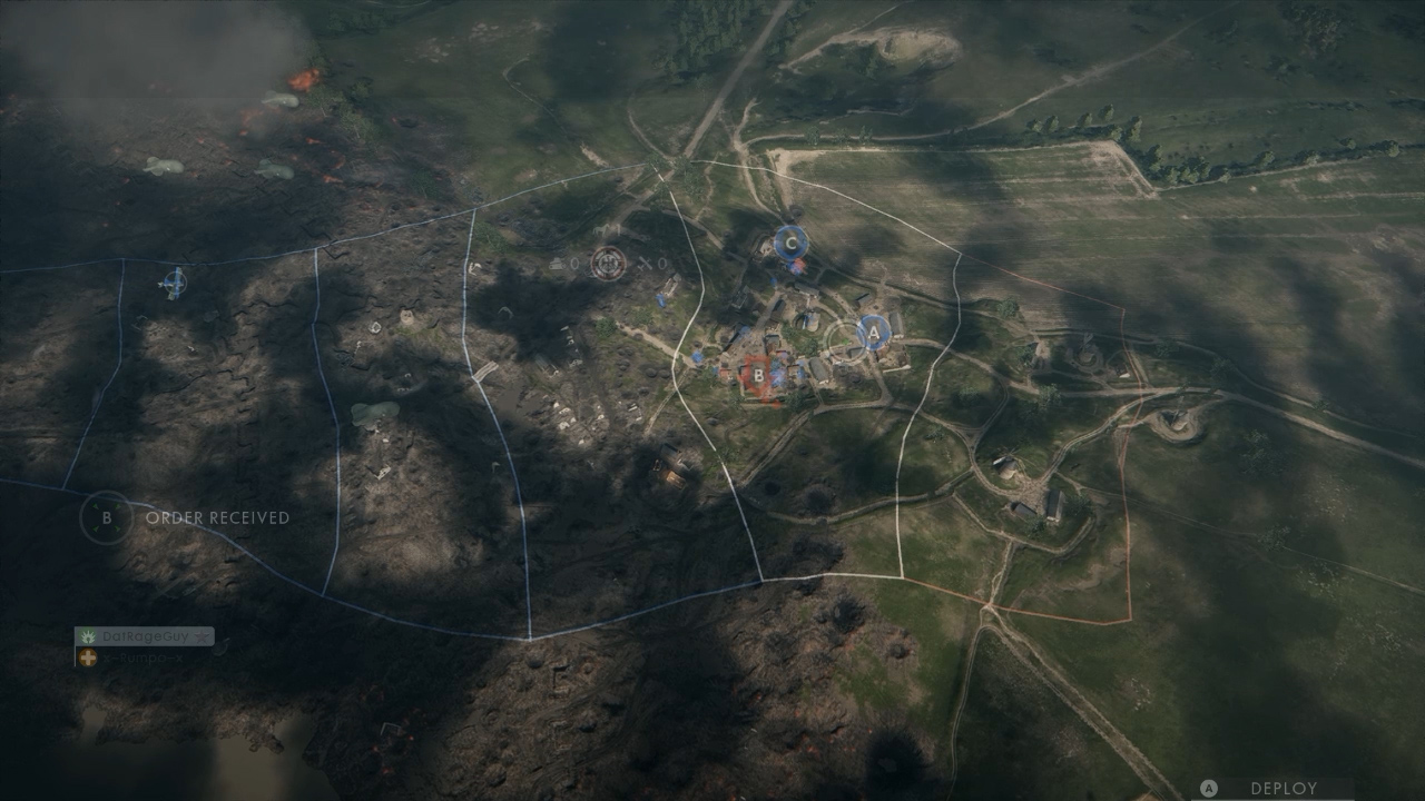 A look at how territory is broken up when fighting in Operations.