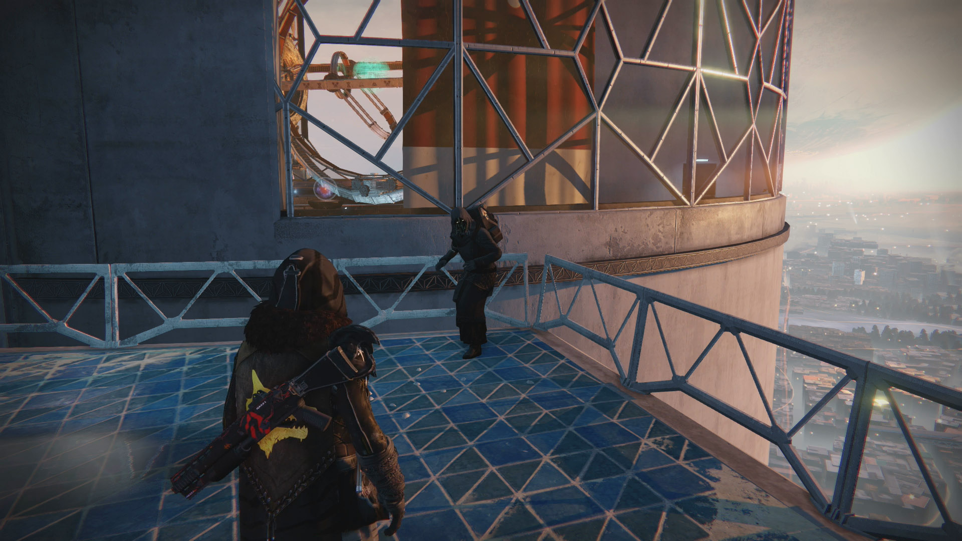 Xur's location is Tower North, not far from where you'd find The Speaker.