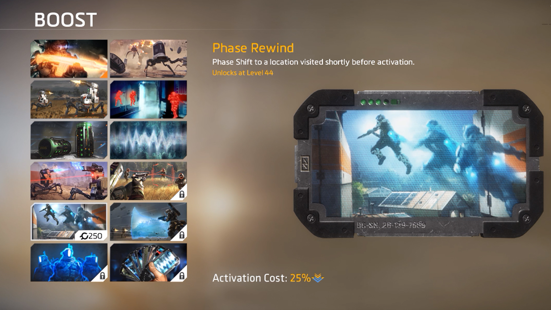 There are several different Boosts available in Titanfall 2, each with their own game-changing effects