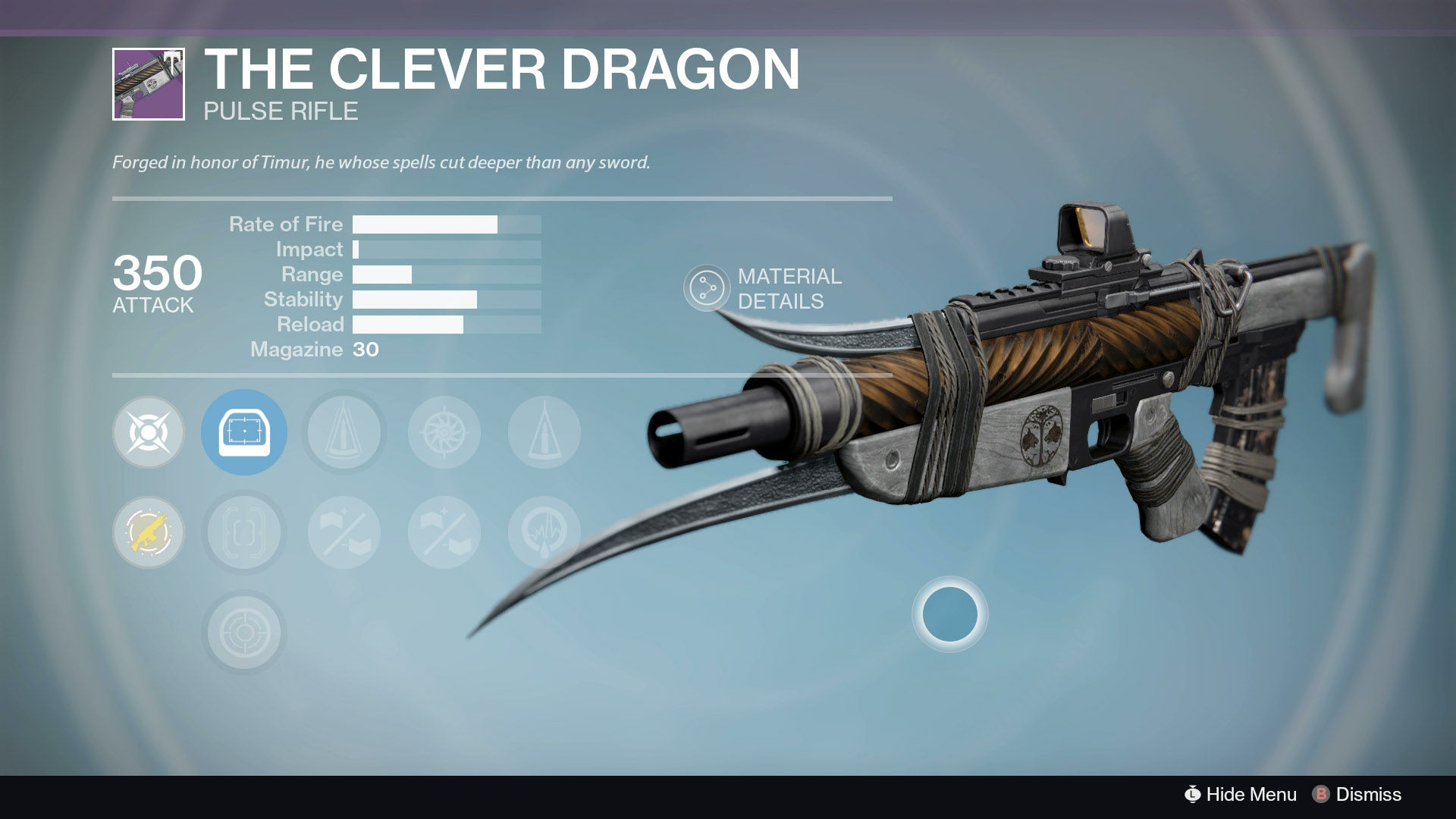 The Clever Dragon, Iron Banner's Vendor Weapon