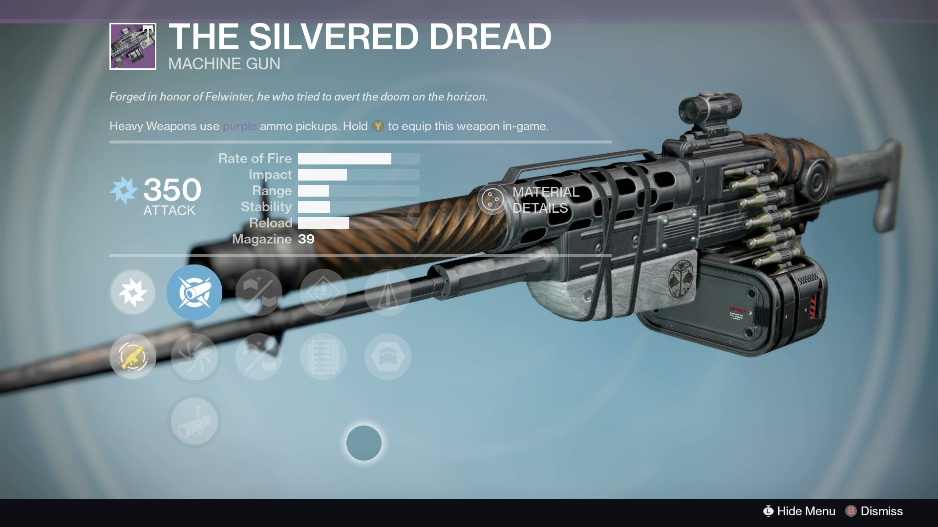 The Silvered Dread, Iron Banner's Vendor Weapon