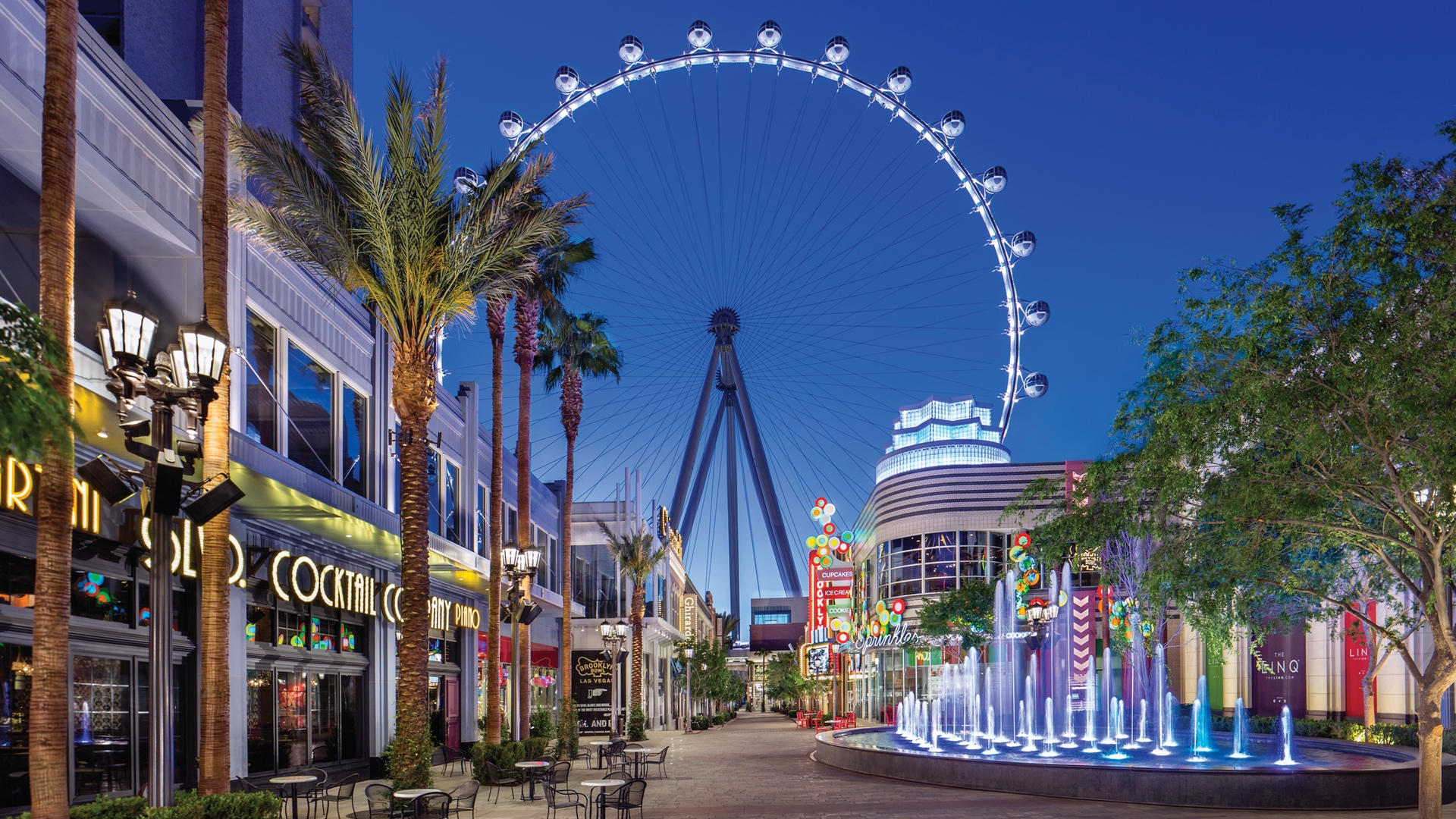 The Linq High Roller ferris wheel in Las Vegas