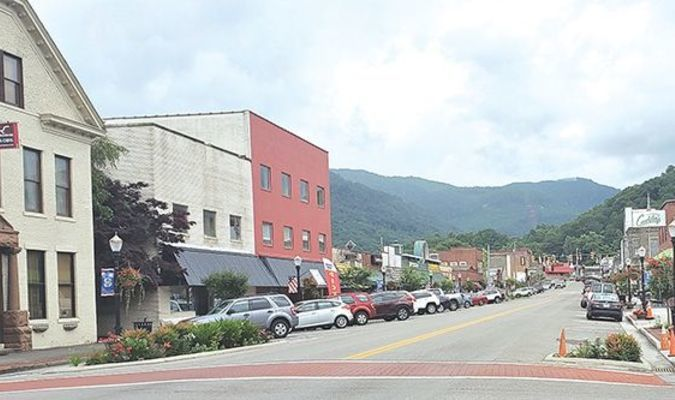 Lunchtime on Wood Avenue in downtown Big Stone Gap is bustling with business again, with four restaurants open. However, some proprietors are maintaining tight safety controls. TERRAN YOUNG PHOTO