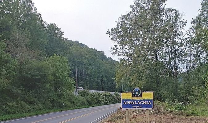 A welcome sign recently went up marking the Washington Rock area's addition to Appalachia.  TERRAN YOUNG PHOTO