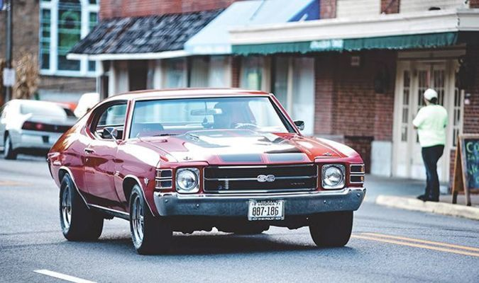 This oh-so-sweet 1971 Chevelle SS was among more than 100 vehicles parading through Appalachia Oct. 3 during the Main Street Cruise In.  COURTNEY ESTEP PHOTO