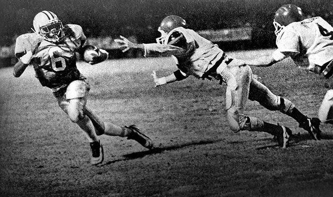 Powell Valley's Thomas Jones raced past the Appalachia defense in 1995.